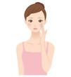 シミに悩む女性 美容 スキンケア