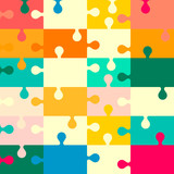 Puzzle Seamless Vector Retro Background