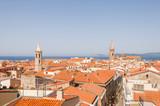 Alghero, Stadt, Altstadt, Santa Maria, Kathedrale, Altstadthäuser, Korallenküste, Mittelmeer, Sommer, Insel, Sardinien, Italien