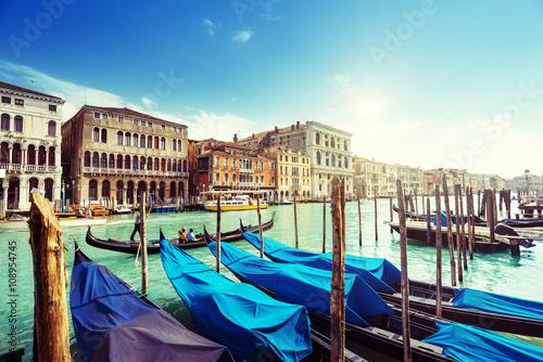 gondolas in Venice, Italy. © Iakov Kalinin