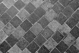 Horizontal Texture of The Gray Slate Footpath