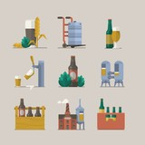 vector background of beer icons