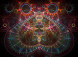 Fractal fantasy symmetric background.