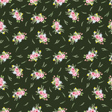 Seamless floral pattern with little pink roses - 108980399