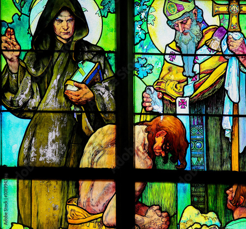 Poster Stained Glass - Saints Cyril and Methodius
