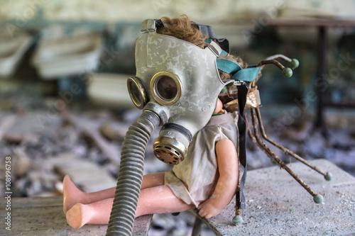 Poster Creepy doll in Pripyat, Chernobyl