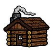 Log Cabin vector icon