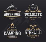 Fototapety Outdoor Retro Emblems