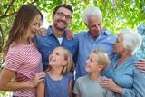 Happy multi generation family