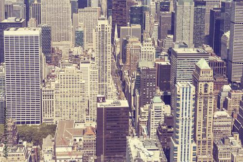 Fototapeta Vintage stylized picture of Manhattan, New York City.