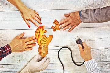Light Bulb Puzzle - Teamwork