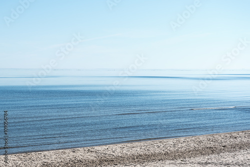Restful summer day at gulf of Riga, Baltic sea. - 109056784