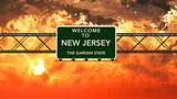 Welcome to New Jersey USA Interstate Highway Sign in a Breathtak - 109058910