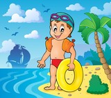 Little swimmer theme image 3