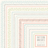 Fototapety Floral Pattern Brushes