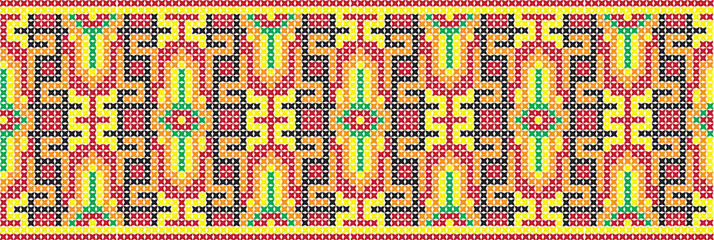 embroidered  cross-stitch ethnic Ukraine pattern