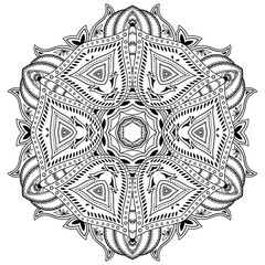 Henna tatoo mandala. Mehndi style.