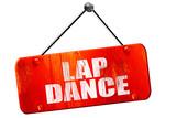 lap dance, 3D rendering, vintage old red sign