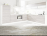 Fototapety kitchen with marble worktop