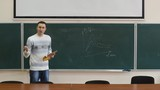 The young manager reports and draws the graph on the blackboard. It compares the performance of the company before and after the reforms.