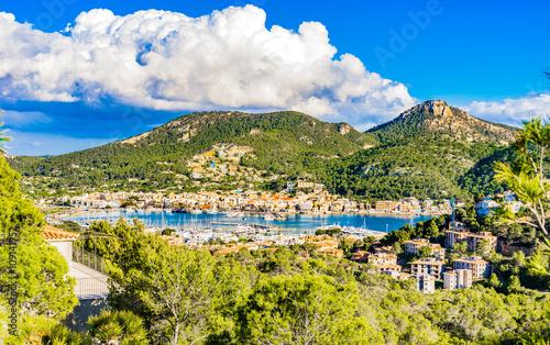 Fotobehang Panorama Majorca Spain Coast Place Port Andratx