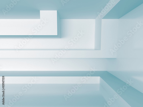 Fototapeta White Interior Background. Abstract architecture concept