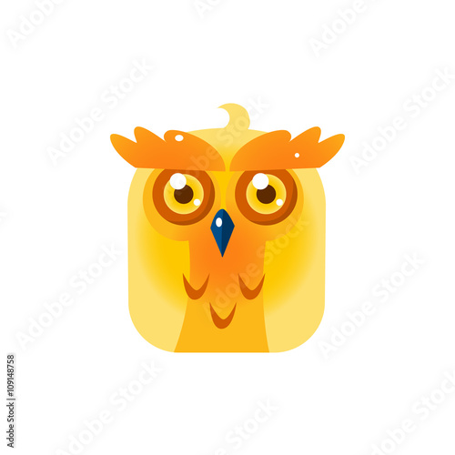 Yellow Owl Chick Square Icon