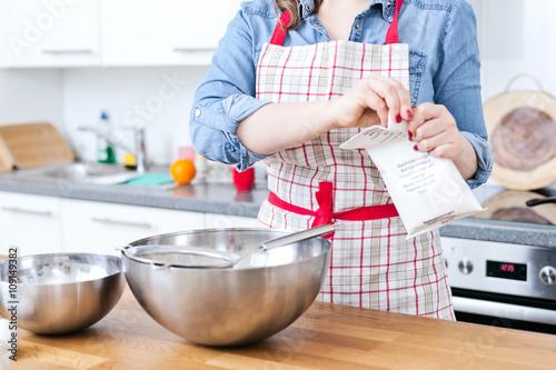 Poster Frau in der Küche
