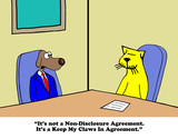 Business cartoon about conflict between coworkers.