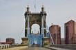The Roebling suspension bridge between Ohio and Kentucky