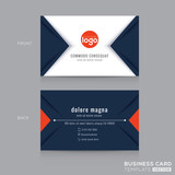 Abstract modern navy blue triangle Business card Design
