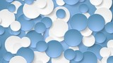Abstract corporate blue white circles motion background. Video animation HD 1920x1080