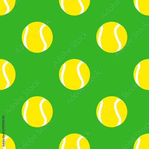 Fototapeta Icono plano patrón con pelota de tenis #1