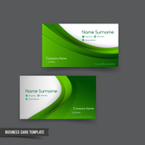 Business Card template set  049 green curve element for natural