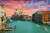 Fototapety Grand Canal and Basilica Santa Maria della Salute .Venice.Italy