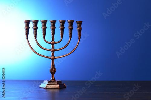 Plakát Traditional Jewish Menorah