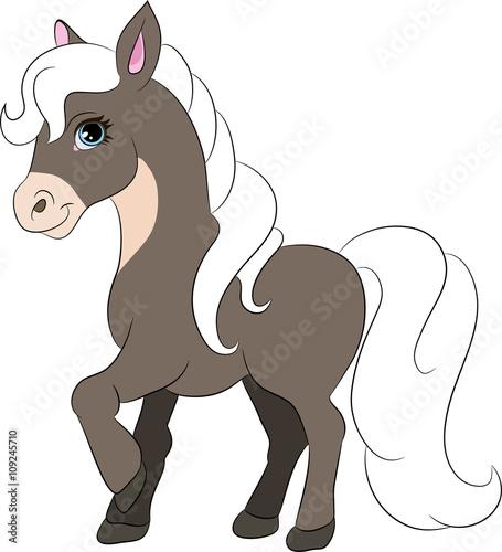 Zdjęcia na płótnie, fototapety, obrazy : happy cartoon horse
