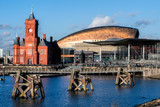 Fototapety Pierhead and Millenium Centre buildings Cardiff Bay
