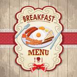 Vintage Breakfast poster design