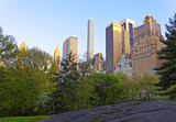 Midtown Manhattan with skyline of skyscrapers in Central Park East - 109299929