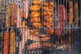 Detalle de Carne en Barbacoa o Parrilla
