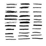 Fototapety Art brush in chalk pastel 33 brushes set vector for use in graph