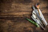 Fototapety vintage kitchen utensils