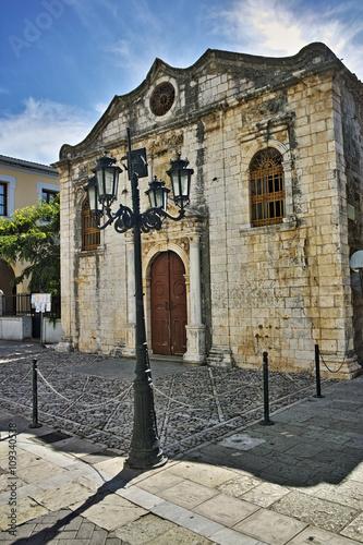 Zdjęcia na płótnie, fototapety, obrazy : Belfry of the Church in Lefkada town, Ionian Islands, Greece