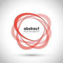 abstract red rings background