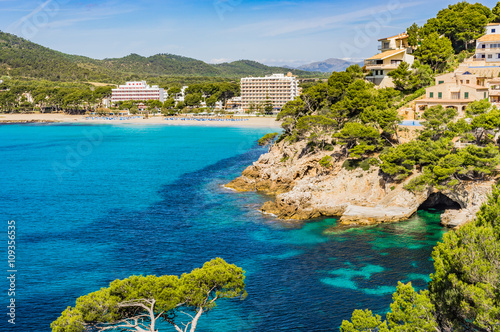 Keuken foto achterwand Noord Europa Spain Majorca view of Canyamel bay coastline