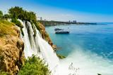 Fototapety Waterfall in Antalya city Turkey, Mediterrain sea