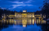 Lazienki Palace in Warsaw, Poland at night - 109371597