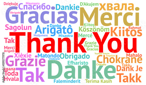 Fototapeta Thank You illustration word cloud in different languages