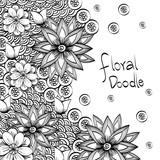 Floral design. Doodle illustration.  white background